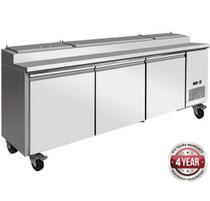 TPB2400 Pizza Prep Bench 998 Ltr 2393mm W x 820 D x 1050 H
