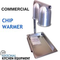 Deaken Double Bulb Heat lamp / Chip Warmer with GN 1/1 Tray