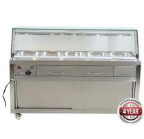 PG180FE-YG Heated Bain Marie Food Display 1800mm Width