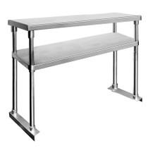1200-WBO2 Double Tier Workbench Flat Feet Overshelf 750mm High x 1200 mm W