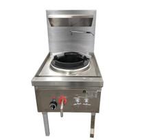 WW-1N Stainless Steel Waterless Natural Gas Single Wok 600mm W x 890D x1260H