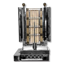 KMB4E Semi-automatic Kebab Machine Natural Gas 4 Burner