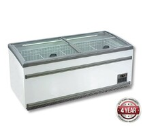 ZCD-L210S 850 Ltr Supermarket Island Dual Temperature Freezer & Chiller with Glass Sliding Lids