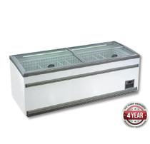 ZCD-L250S 1040 Ltr Supermarket Island Dual Temperature Freezer & Chiller with Glass Sliding Lids