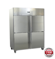 GN1200TNM GRAND ULTRA Four 2/1 S/S Door Upright Fridge 1200Lt 1340mm Width