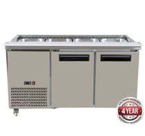 PG150FA-B Bench Station Two Door - 4 x 1/1 GN Pans 1460mm Width