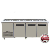 PG210FA-B Bench Station Three Door - 6 × 1/1 GN Pans