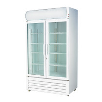 LG-1200GE Large Two Glass Door Colourbond Upright Drink Fridge 1200Lt 1330mm W