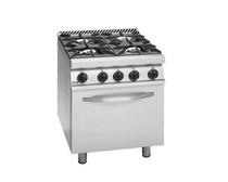 CG7-41H Fagor 700 Series Natural Gas 4 Burner Gas Range with Gas Oven