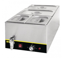 S047-A Apuro Bain Marie with Tap & Pans Capacity 20Ltr