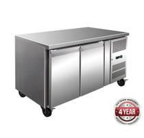 GN2100BT TROPICALISED 2 Door Gastronorm Bench Freezer 313.5 Ltr 1360mm W