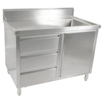 SC-7-1500R-H Kitchen Tidy Cabinet with Right Sink 1500mm Width x 700mm Deep
