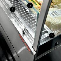 Mastercool Stainless Steel Self Serve Open Display 900mm