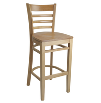 Florence Barstool - Natural - Timber Seat