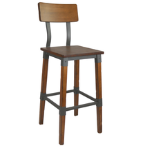 Genoa Barstool 730H - Timber Seat/Backrest