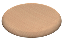 Gentas 340 Dia Round Stool Top - Light Beech