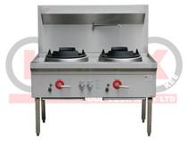 LKK-2B 2 Burner Waterless Gas Wok Table  - Duckbill Burner