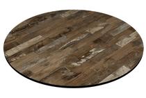 Compact Laminate Rustic Block Wood Duratop 600 Dia Round