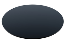 Compact Laminate Black Duratop 800 Dia Round - Plain Colours