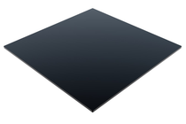 Compact Laminate Black Duratop 800x800 Square - Plain Colours