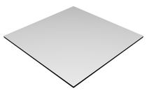 Compact Laminate White Duratop 800x800 Square - Plain Colours