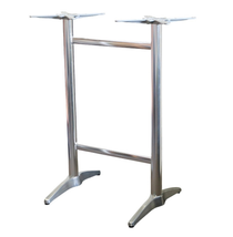 Astoria Alum Twin Bar Table Base - For 1400x800 tops