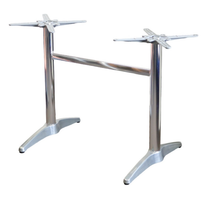 Astoria Alum Twin Table Base - For 1400x800 tops