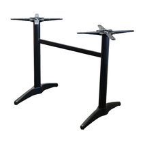 Astoria Black Twin Table Base - For 1400x800 tops
