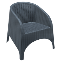 Aruba Tub Chair - No Cushion - Anthracite