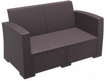 Monaco Lounge Sofa - With Cushions - Chocolate