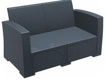 Monaco Lounge Sofa - With Cushions - Anthracite