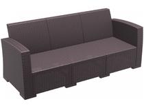 Monaco Lounge Sofa XL - No Cushions - Chocolate