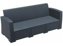 Monaco Lounge Sofa XL - No Cushions -  Anthracite