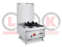 """LKK-1B17L 1 Burner 17"""" Ring Waterless Gas Stockpot - Duckbill Burner"""