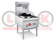 LKK-1B 1 Burner Waterless Gas Wok Table - Duckbill Burner