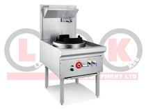 LKK-1BC 1 Burner Waterless Gas Wok Table Chimney