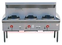 LKK-3B 3 Burner Waterless Gas Wok Table - Duckbill Burner