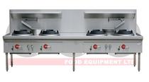 LKK -4B 4 Burner Waterless Gas Wok Table - Duckbill Burner