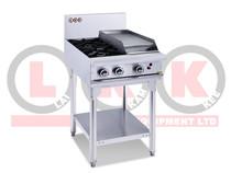 LKKOB4C 2 Gas Open Burner Cooktop & 300mm RHS Griddle with Legs