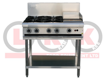 4 LHS Open Burner & 300mm RHS Grill - LKKOB6C
