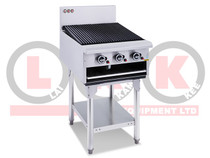 LKKCG6 3 Burner 600mm Gas Chargrill with Legs
