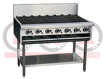 LKKCG12 7 Burner 1200 mm Chargrill with Legs