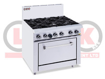 LKKOB6D+O 6 Open Burner Cooktop + Static Oven