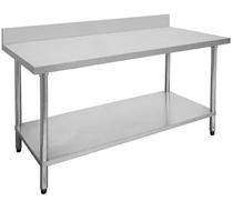 1800-6-WBB Economic 304 Grade Stainless Steel Table with splashback 1800x600x900