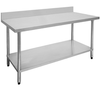 2100-6-WBB Economic 304 Grade Stainless Steel Table with splashback 2100x600x900