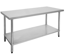 2400-6-WB Economic 304 Grade Stainless Steel Table 2400x600x900