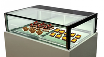 White marble chocolate display with storage 1200x800x1100mm - DS1200V