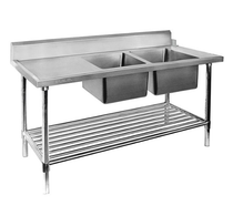 DSBD7-2400R/A Right Inlet Double Sink Dishwasher Bench