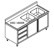 DSC-1800R-H KITCHEN TIDY CABINET WITH DOUBLE RIGHT SINKS