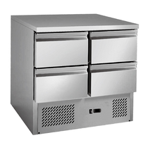 4 drawers S/S benchtop fridge - GNS900-4D